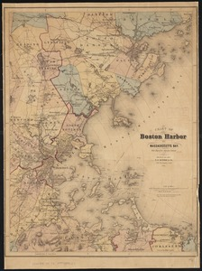 Chart of Boston Harbor and Massachusetts Bay