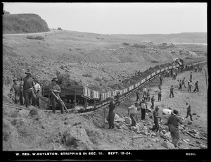 Wachusett Reservoir, stripping soil, Section 10, West Boylston, Mass., Sep. 18, 1904