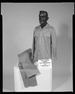 Work uniform, summer, shirt and trousers, tan (50/50 polyester/cotton, durable press)