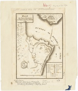 Plan des forts, batteries et poste de West-Point, 1780