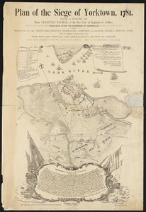 Plan of the Siege of Yorktown, 1781