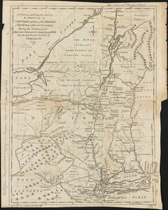 A new and accurate map of the province of New York and part of the Jerseys, New England and Canada, shewing the scenes of our military operations during the present war