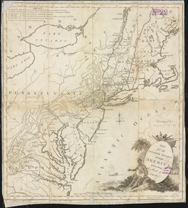 Map for the interior travels through America, delineating the march of the army