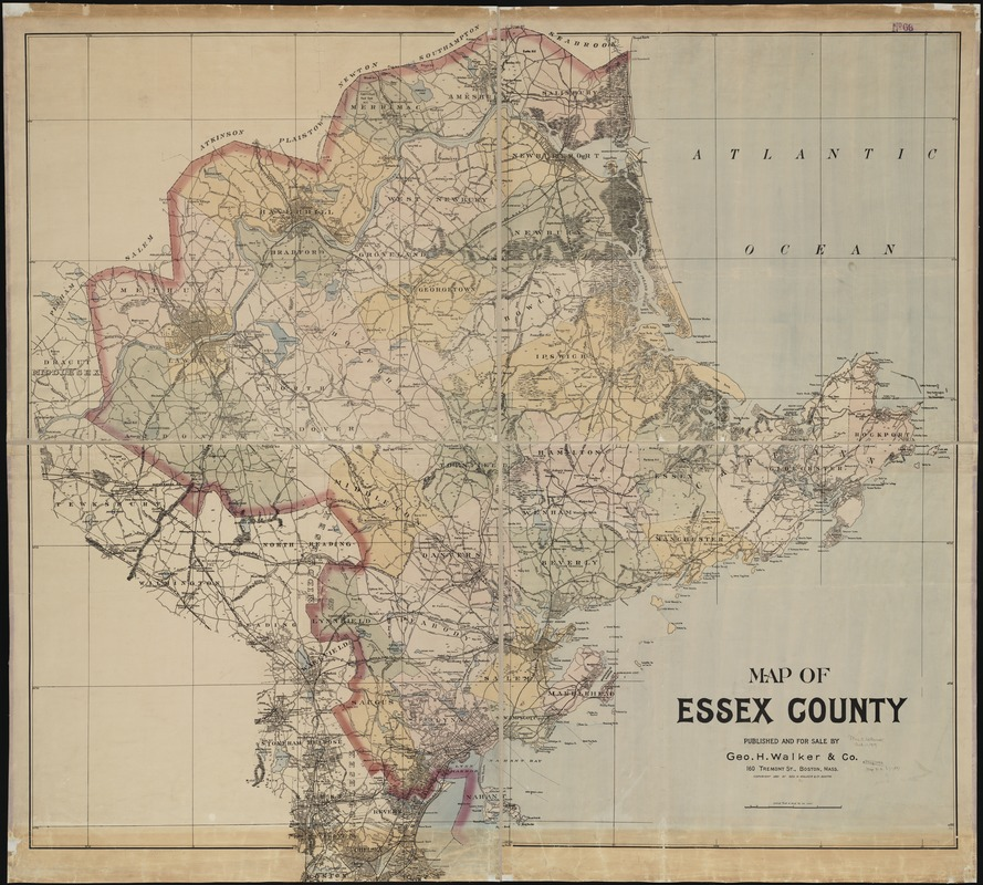 Map of Essex County