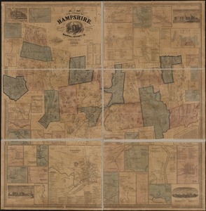 Map of the county of Hampshire, Massachusetts