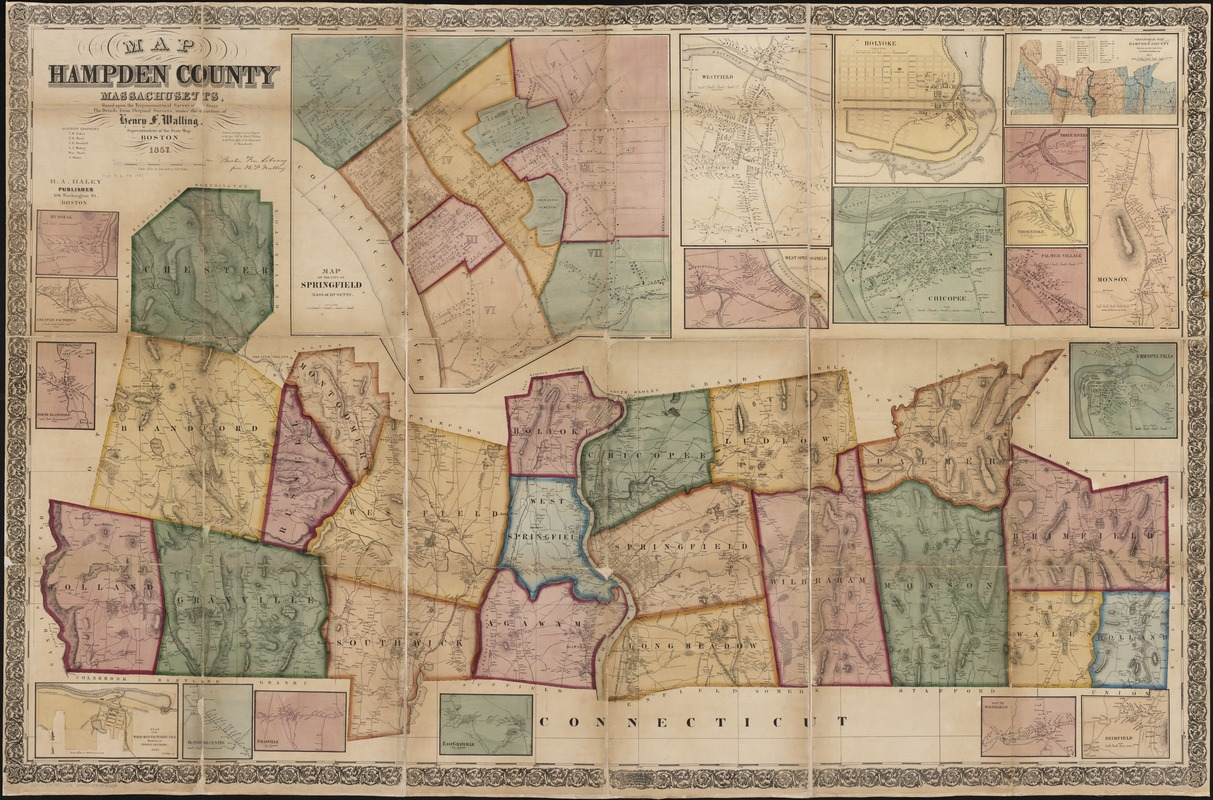 Map of Hampden County, Massachusetts