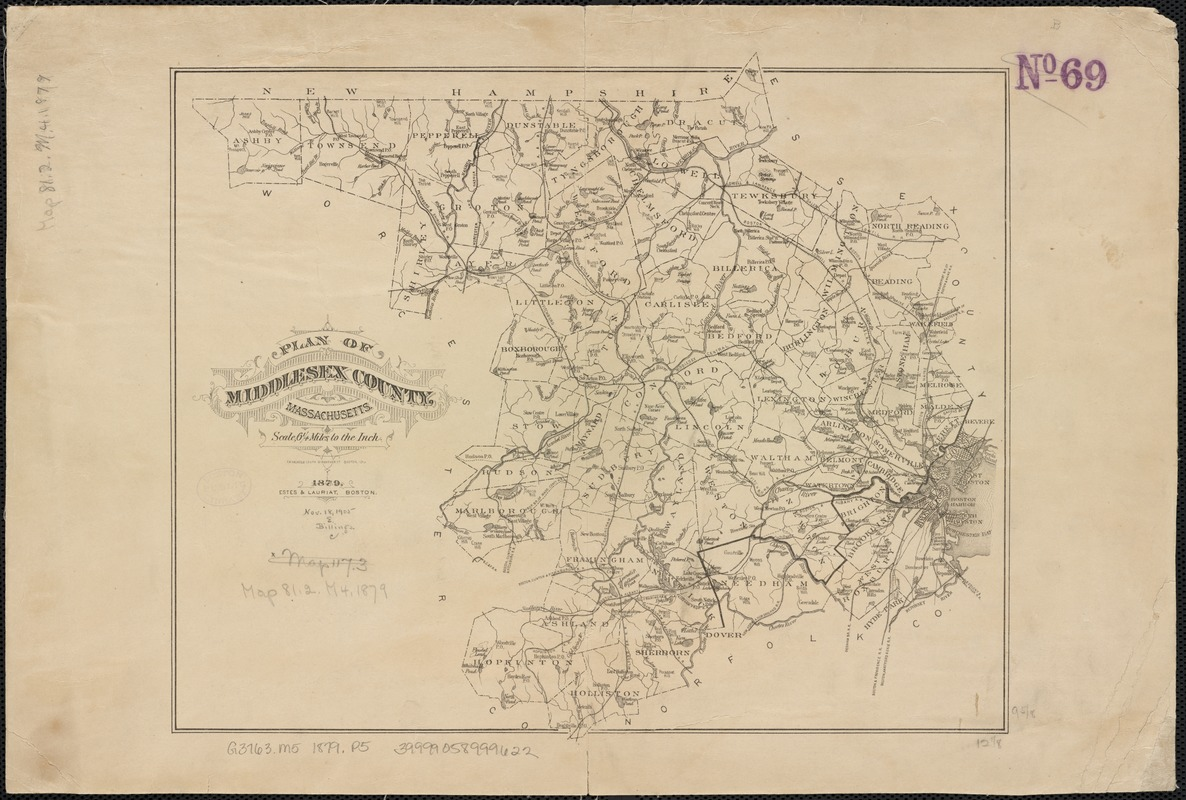 Plan of Middlesex County, Massachusetts