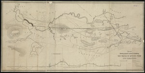 Plan showing proposed method of introducing the water of Mystic Pond into Charlestown