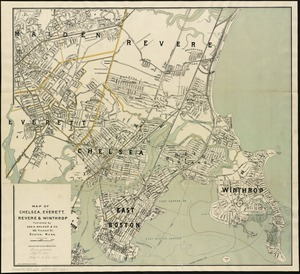 Map of Chelsea, Everett, Revere, & Winthrop
