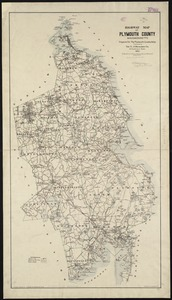 Highway map of Plymouth County, Massachusetts