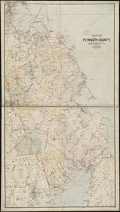 Map of Plymouth County, Massachusetts