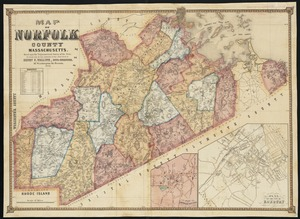 Map of Norfolk County, Massachusetts