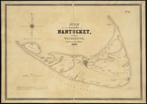 Map of the island of Nantucket, including Tuckernuck