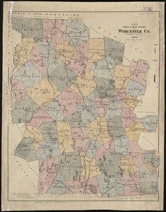 New bicycle & driving road map of Worcester Co., Massachusetts