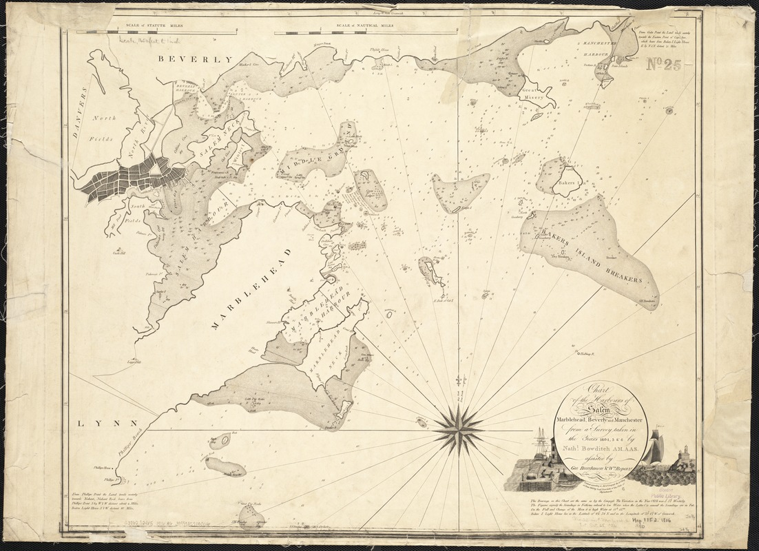 Chart of the harbours of Salem, Marblehead, Beverly, and Manchester