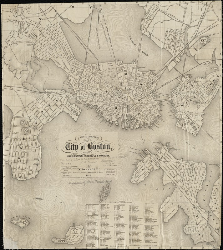 A new & complete map of the city of Boston, with part of Charlestown, Cambridge & Roxbury