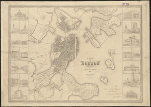 Plan of Boston with parts of the adjacent towns