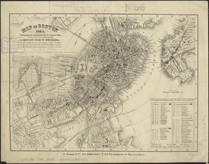 Map of Boston, 1865