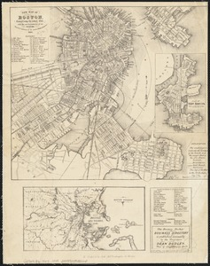 New map of Boston, comprising the whole city with the new boundariess of the wards