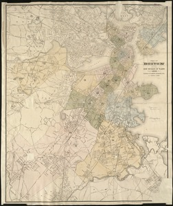 Map of Boston showing new division of wards