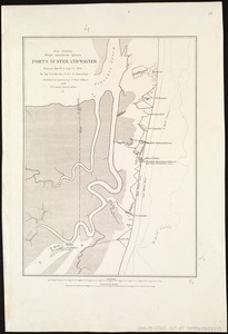 Map showing siege operations against Forts Sumter and Wagner between July 13th & Sept. 7th, 1863