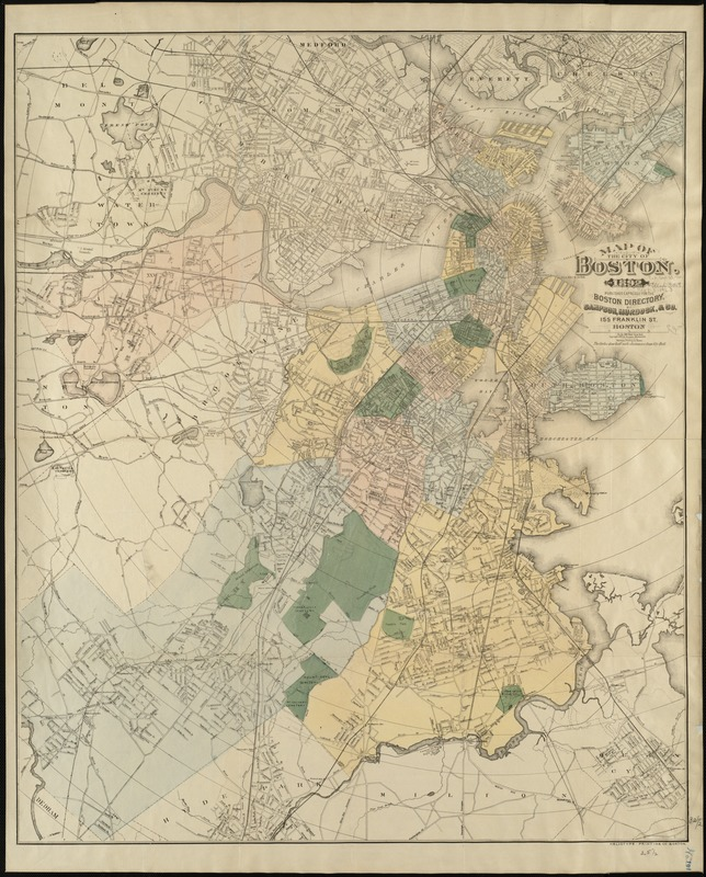 Map of the city of Boston, for 1892