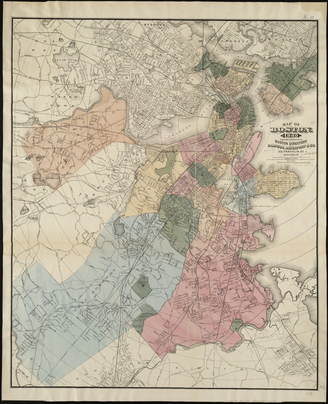Map of Boston for 1880