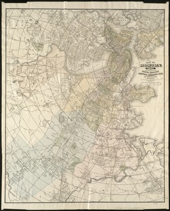 Map of Boston, for 1885