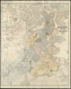 Map of the city of Boston, for 1891