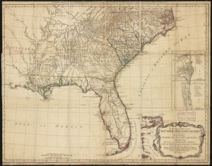 A general map of the southern British colonies in America comprehending North and South Carolina, Georgia, East and West Florida, with the neighbouring Indian countries