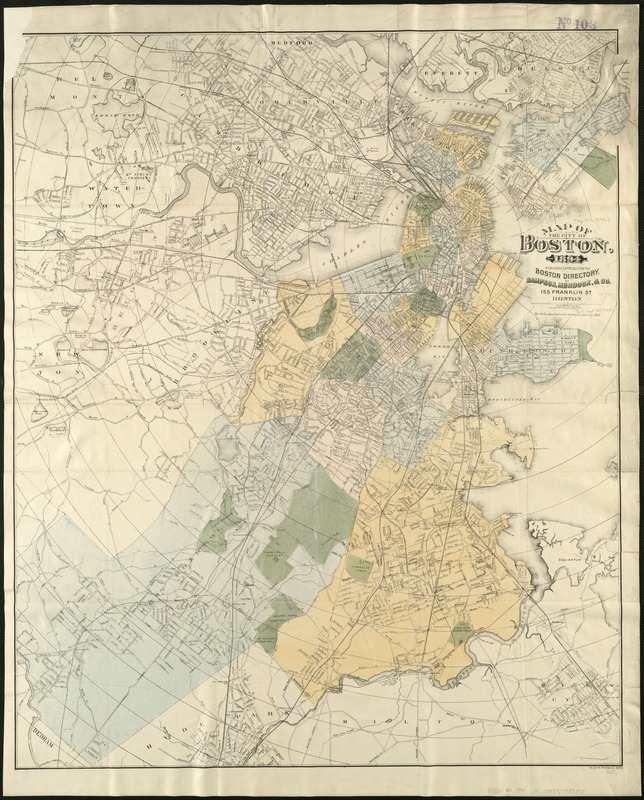 Map of the city of Boston, for 1894