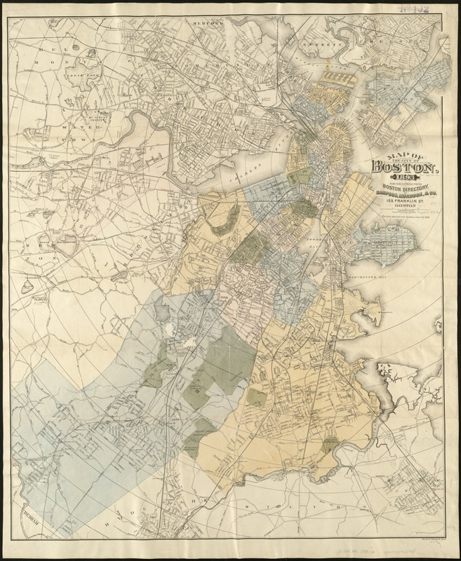 Map of the city of Boston for 1893 Norman B Leventhal Map Center