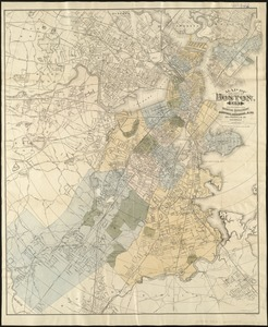 Map of the city of Boston, for 1893