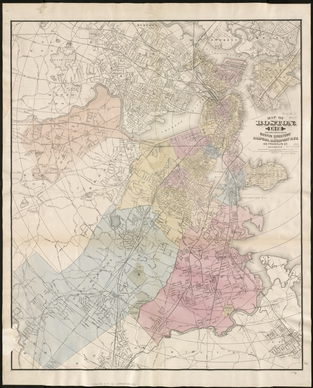 Map of Boston, for 1878