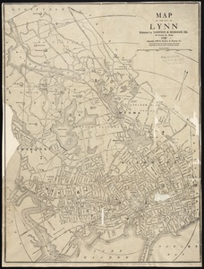 Map of the city of Lynn