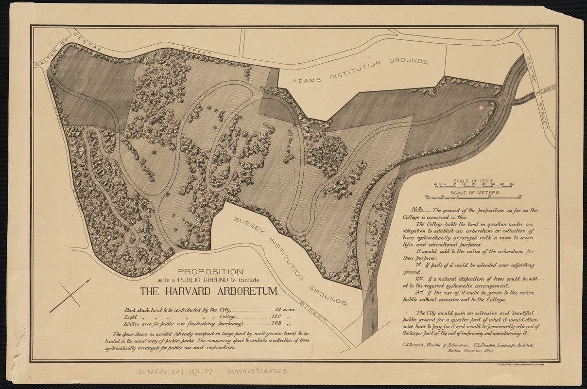 Proposition as to a public ground to include the Harvard Arboretum