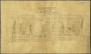Plan of house lots, Mt. Vernon St., West Roxbury
