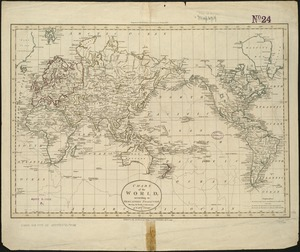 Chart of the world according to Mercators projection, shewing the tracks & discoveries of Captn. Cook