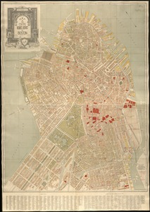 Map of the central business district of Boston