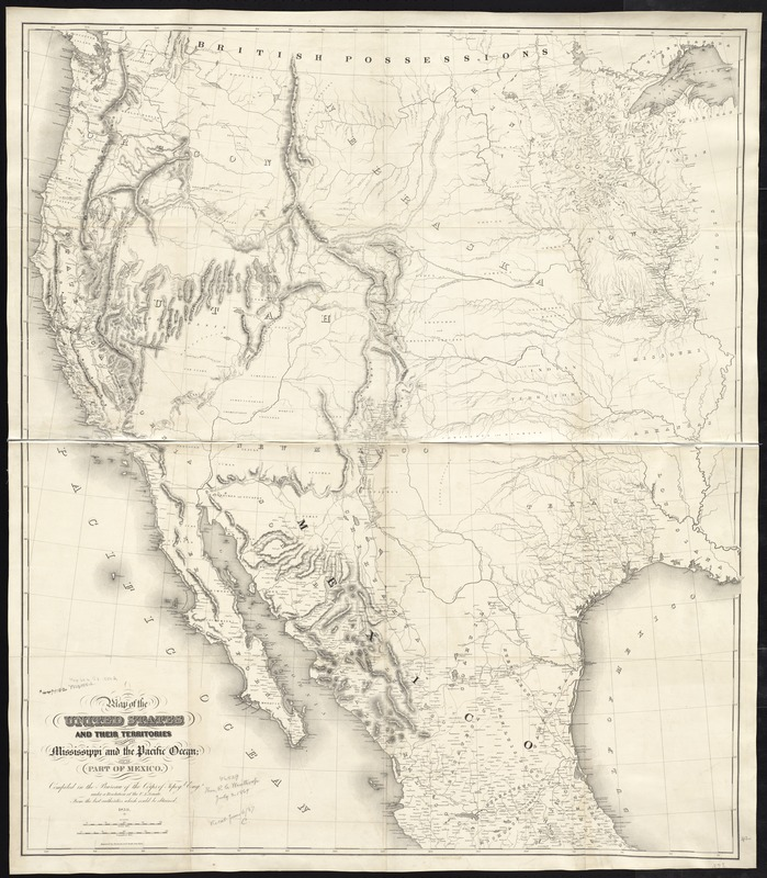 Map of the United States and their territories between the Mississippi and the Pacific Ocean; and part of Mexico