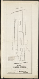 Plan of Gray's Wharf, to be sold at public auction, on the premises, on Thursday April 28th 1870 at 12 o'clock noon