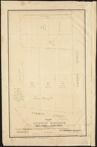 Plan of the Coffin Estate, corner of Summer and Chauncy Streets
