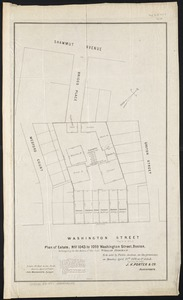 Plan of estate, nos 1043 to 1059 Washington Street, Boston, belonging to the heirs of the late William Brigham