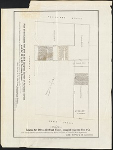Plan of the estates nos. 246 to 252 Congress corner of Purchase Street and nos. 59 to 69 Purchase Street