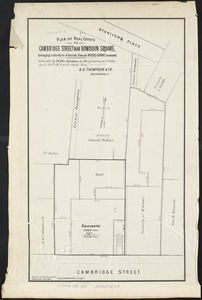 Plan of real estate on Cambridge Street near Bowdoin Square, belonging to the heirs of the late Deacon Moses