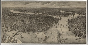 [Bird's-eye view of Boston]