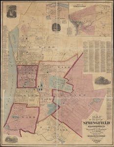 Map of the city of Springfield Massachusetts