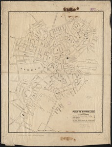 Plan of Boston 1828