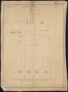 [Plan of real estate on Pearl Street, Boston]