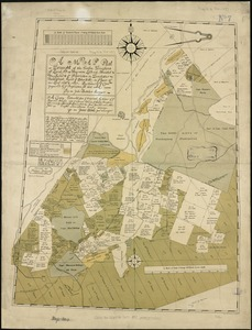 A map plat or draught of the twelve divisions of land as they were laid out, bounded & measured to ye proprietors in Dorchester, new grant, beyond ye Blew-Hills, in ye years of our Lord 1696 & 1697